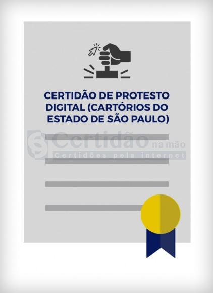 Certidão dos Cartórios de Protesto (Estado de SP) - Certidão Digital