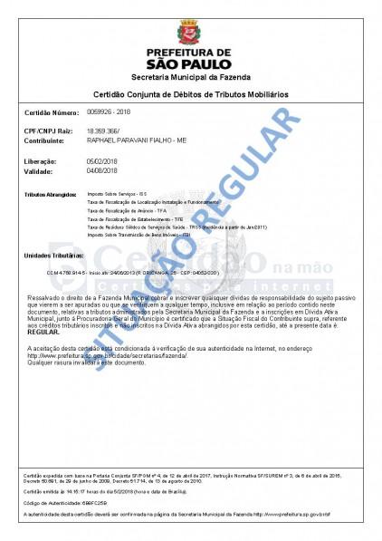Certidão Conjunta de Débitos de Tributos Mobiliários
