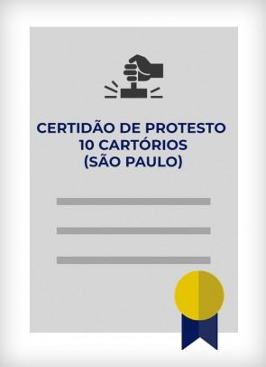 Certidão dos 10 Cartórios de Protesto (Cidade de SP)