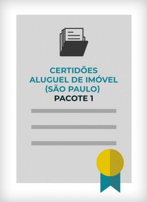 Certidões para Aluguel de Imóvel - Pacote 1 (Cidade de SP)
