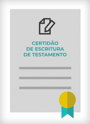 Certidão de Escritura de Testamento (Cidade de SP)