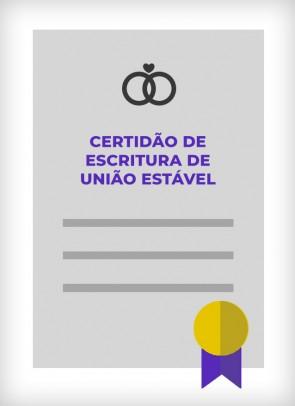 Certidão de Escritura de União Estável (Cidade de SP)