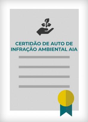 Certidão Negativa de Multa de Auto de Infração Ambiental - AIA