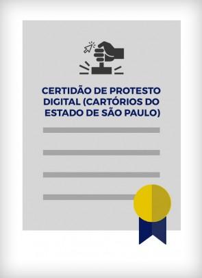 Certidão Negativa de Protesto (Estado de SP)