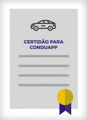 Certidão para Conduapp - Cadastro Municipal de Condutores (Uber, 99, Easy Taxi e outros)