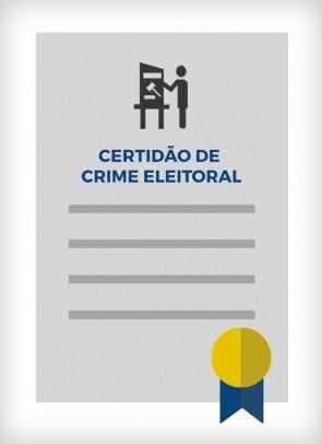 Certidão de Crime Eleitoral