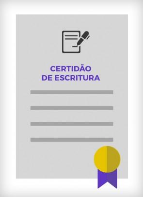 Certidão de Escritura (Cidade de São Paulo)