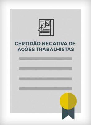 Certidão Negativa de Ações Trabalhistas (São Paulo - 2ª Região)