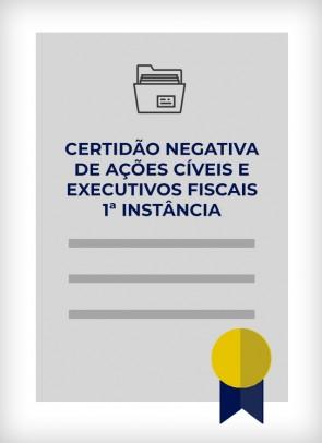 Certidão Negativa de Distribuição de Ações Cíveis e Executivos Fiscais SP