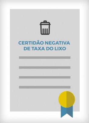 Certidão Negativa de Taxa de Lixo