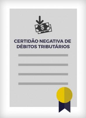 Certidão Conjunta de Débitos de Tributos Mobiliários (Cidade de São Paulo)