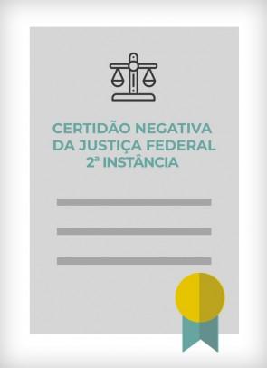 Certidão Negativa da Justiça Federal - 2ª Instância (Estado de SP)