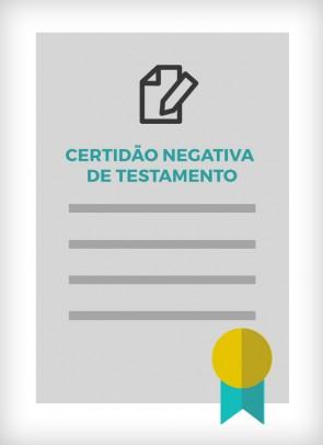 Certidão de Inexistência de Testamento do Colégio Notarial do Brasil - CNB SP