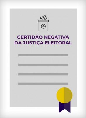 Certidão Negativa da Justiça Eleitoral