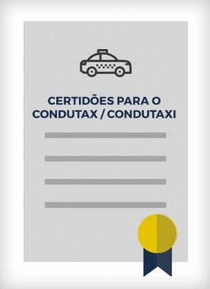 Certidões para o Condutax / Condutaxi (Cidade de São Paulo)