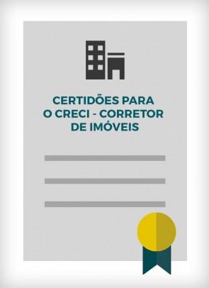 Certidões para o CRECI - Corretor de Imóveis (Cidade de SP)