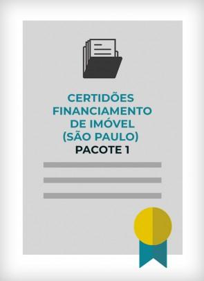 Certidões para Financiamento Imobiliário - Pacote 1 (Cidade de SP)